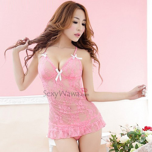 Sexy Babydoll with T-back BD047PK