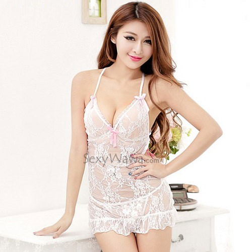 Sexy Babydoll with T-back BD047WH
