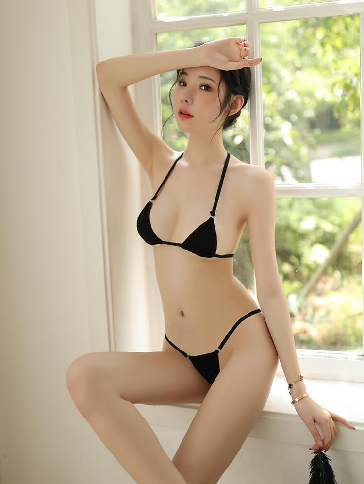 Sexy Bikini Top Bra With Panties BK035BK