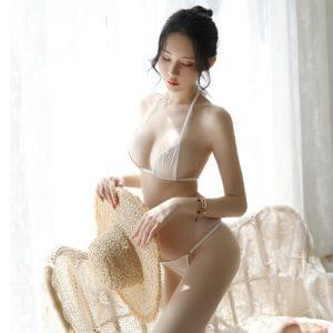 Sexy Bikini Top Bra With Panties BK035WH