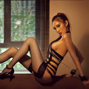 Sexy Black SM Clothes Stocking Garter Belts Handcuffs Set SM003