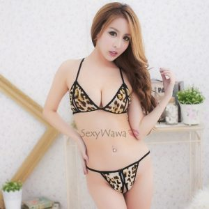 Sexy Leopard Lace Bikini & Panties BK036
