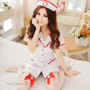 Sexy Nurse Suit With Stocking NS011