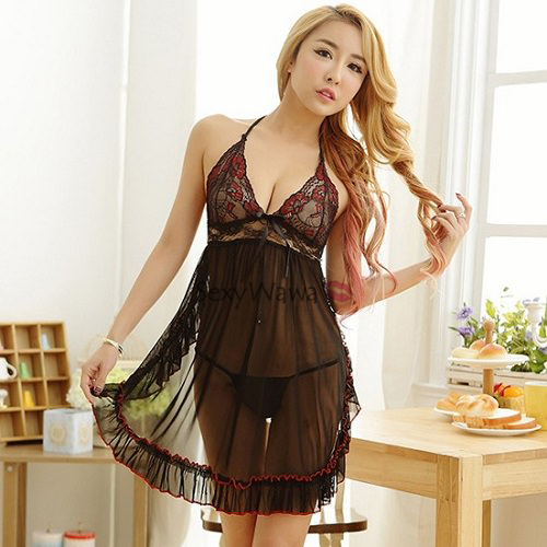 Sexy Babydoll with T-back BD073