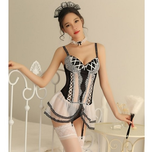 Temptation Sexy Maid Service MD014WH