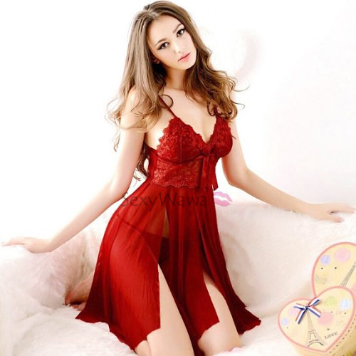 Sexy Babydoll with T-back BD033RD