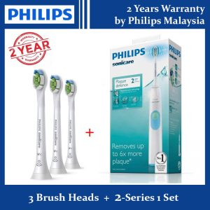 Philips Sonicare 2-Series Toothbrush + 3 Brush Heads